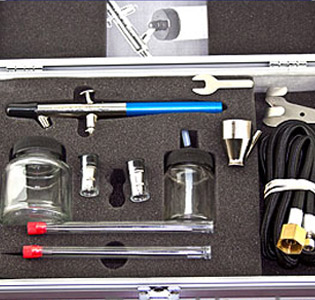 badger 150 profi set airbrush pistole fa georg. Black Bedroom Furniture Sets. Home Design Ideas